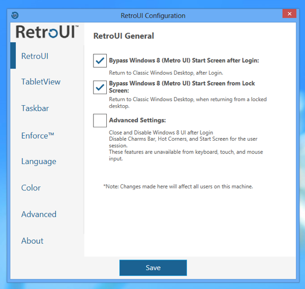 Windows 8 Gets Start Menu And Ability To Run Windows Store Apps on Desktop with RetroUI