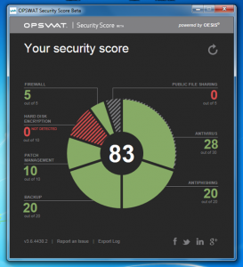 Check Your Windows PC Security Status with OPSWAT Security Score Beta