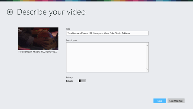 Vimeo App for Windows 8
