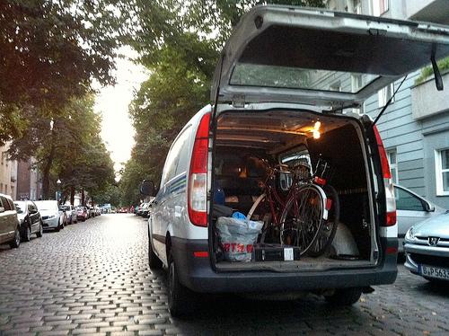 Back of a van