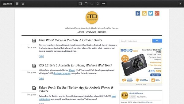 Responsive Design Bookmarklet 2