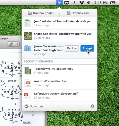 Dropbox 2 0 for OS X and Windows