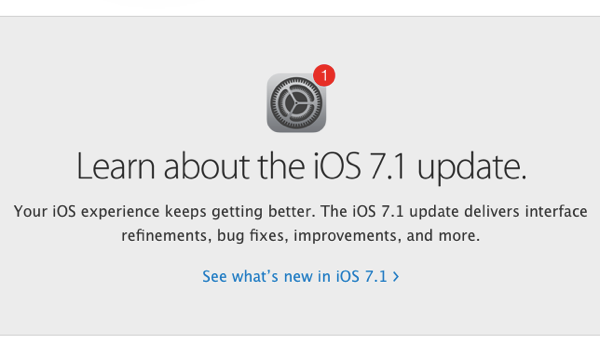 IOS 7 1 Released With UI Updates And Performance Improvements