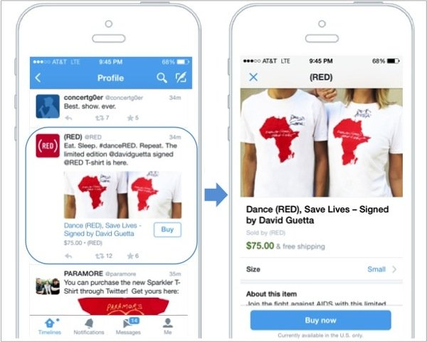 Twitter Begins Testing A New Buy Button for iOS and Android Mobile Apps