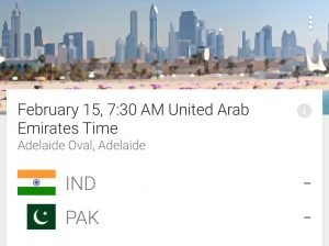 Google App for Cricket World Cup 2015 3