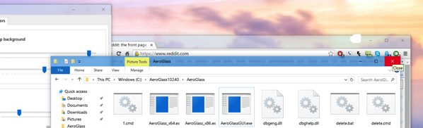 Enable Vista Like Aero Glass in Windows 10 1