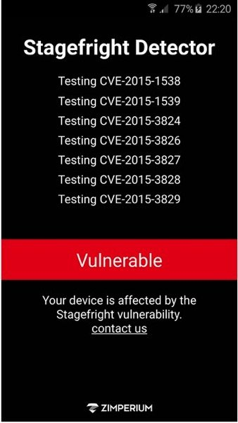 Is Your Android Phone Effected by the StageFright Bug Find Out With This App