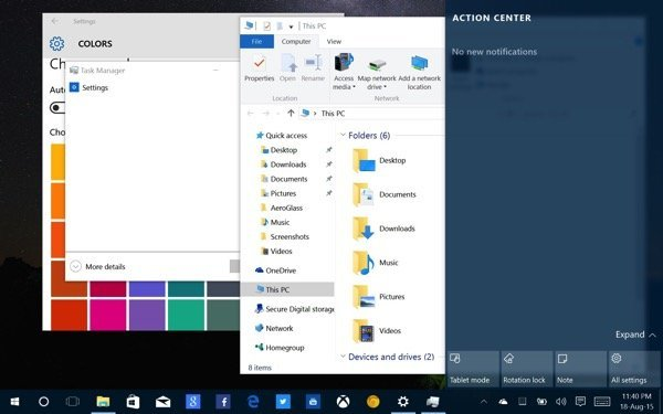 Windows 10 Build 10525 Hands On Impressions 1
