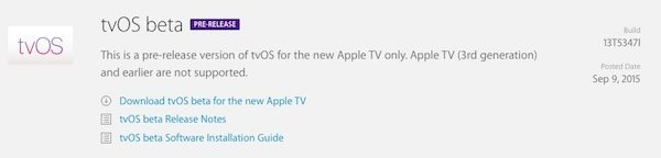 Apple TV tvOS
