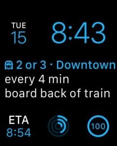 Citymapper WatchOS 2 app with complications