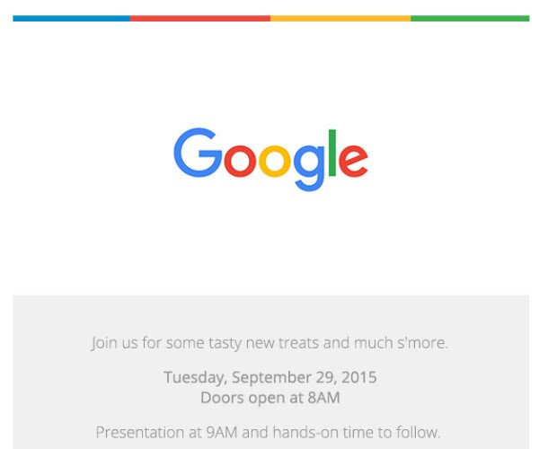 Google Nexus launch event on September 29 - invites go out