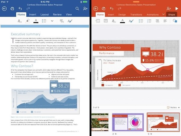 Microsoft Office for iPad pro 2