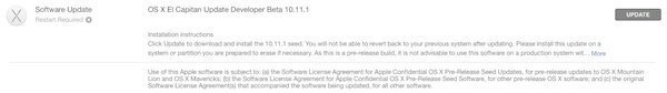 OS X 10.11.1 beta 2 for devs
