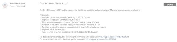 OS X 10.10.1 El Capitan released to Mac users