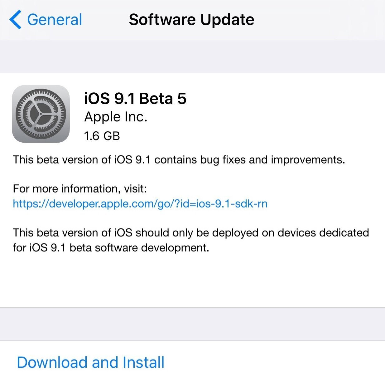 iOS 9.1 beta 5 released with bugs fixes and improvements