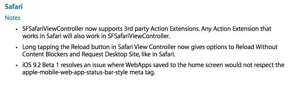 iOS 9.2 beta 1 released to developers 3
