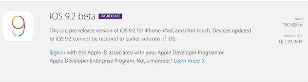 iOS 9.2 beta 1 released to developers