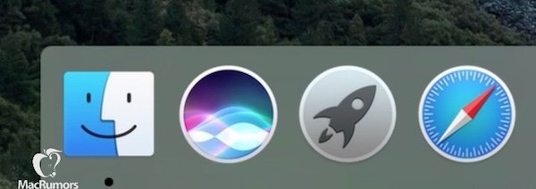 Siri for Mac OS X 10.12 dock icon leaks along with other details