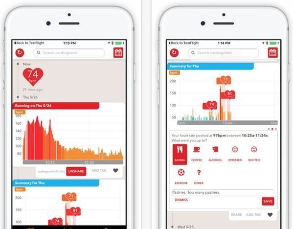 Cardiogram for iOS gets new design, 3D Touch support and watchOS 2 app