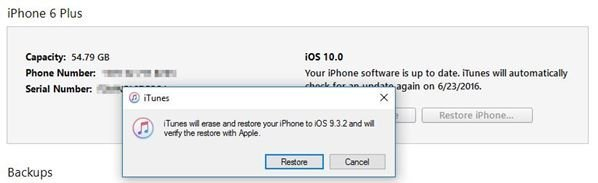 How to downgrade from iOS 10 beta to iOS 9.3.2 2