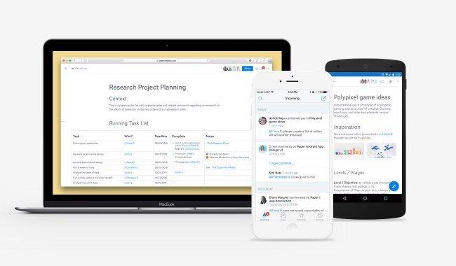 Dropbox Paper enter public beta, releases iOS app