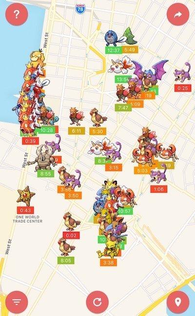 Find nearby Pokémon on a map with PokéAlert