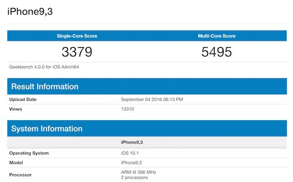 Alleged iPhone 7 Geekbench scores show 35% improvement over iPhone 6s