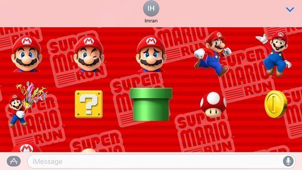 Super Mario Run Stickers now available for iOS 10 iMessage users