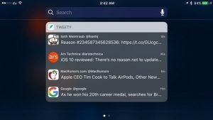 Tweety is a free Twitter feed widget for iOS notification center