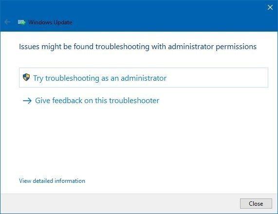 Windows Update Trouleshooter