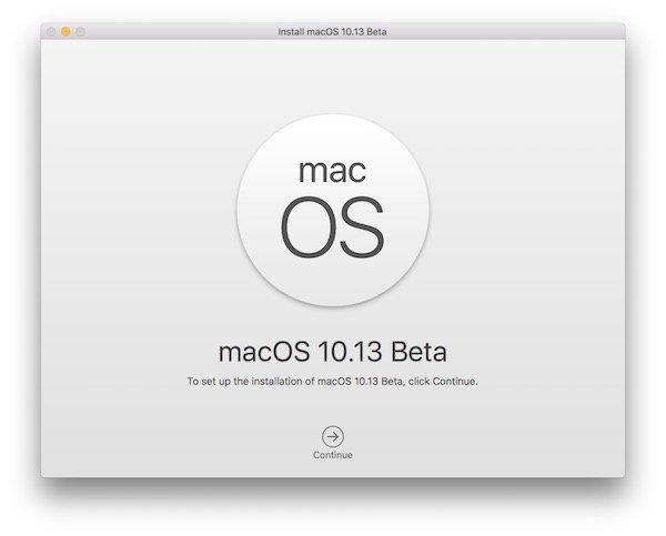 Install macOS High Siera 10.13
