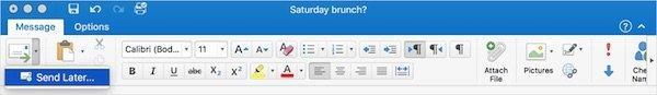 Outlook Mac 2016 send later