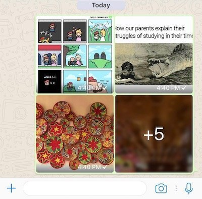 Photo Albums in WhatsApp