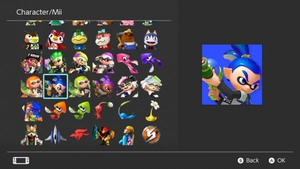 Splatoon 2 avatars Nintendo Switch