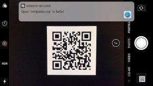 iOS 11 Camera QR Code