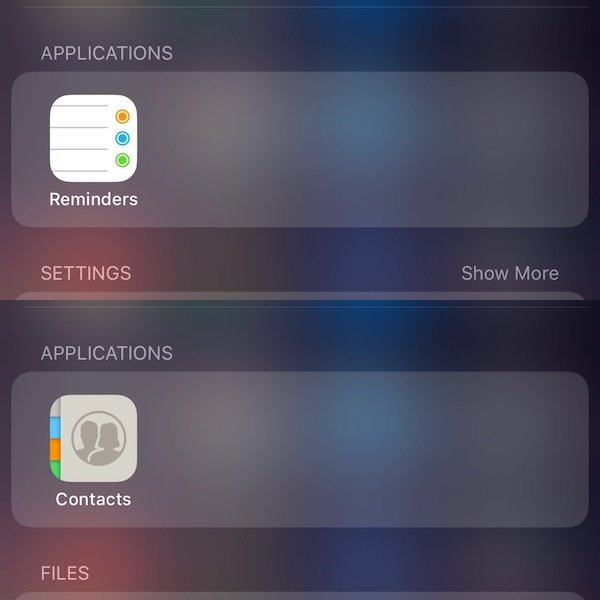 New Contacts and Reminders Icons iOS 11