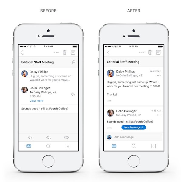Outlook quick replies iPhone