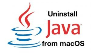 uninstall Java macOS