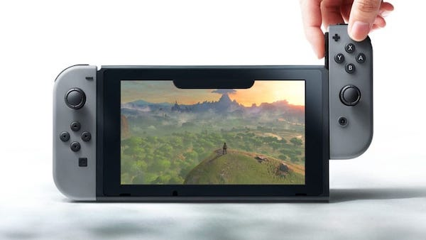 Nintendo Switch with Notch