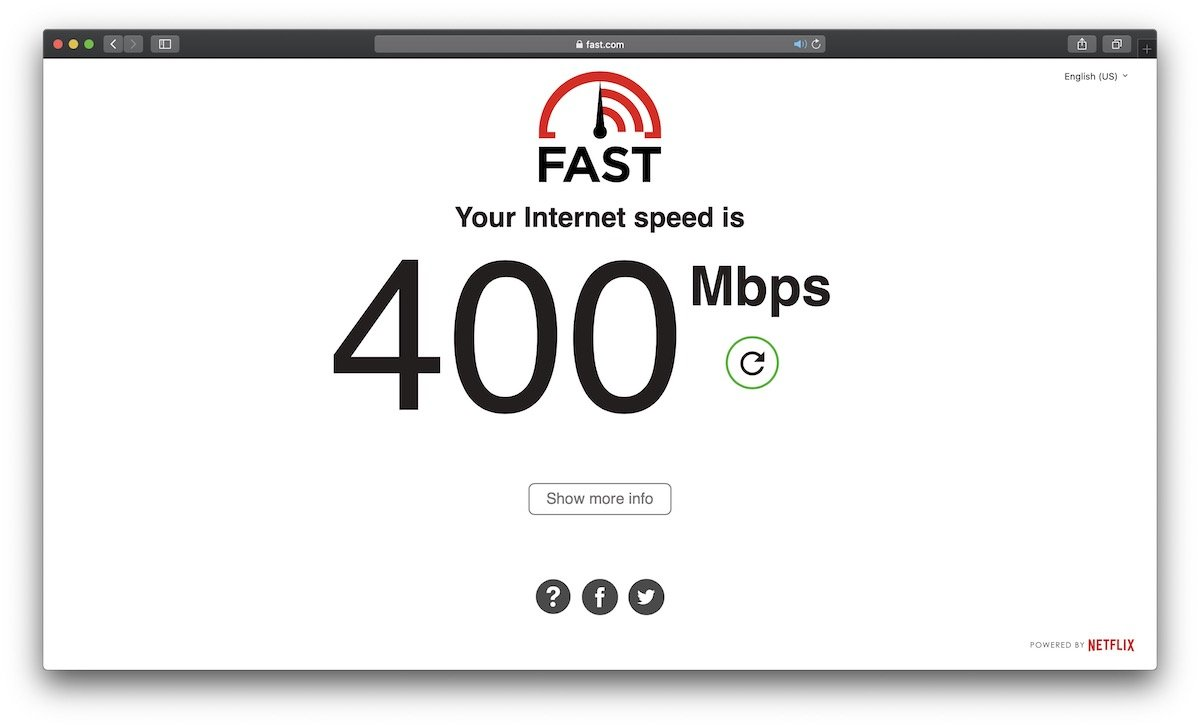 Internet connection speed