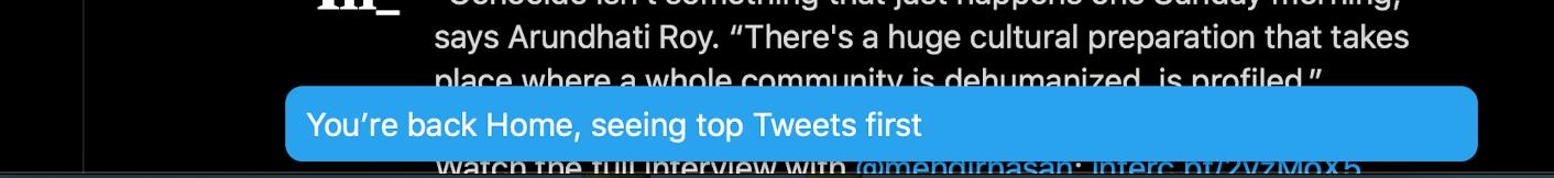 Twitter live stream notification