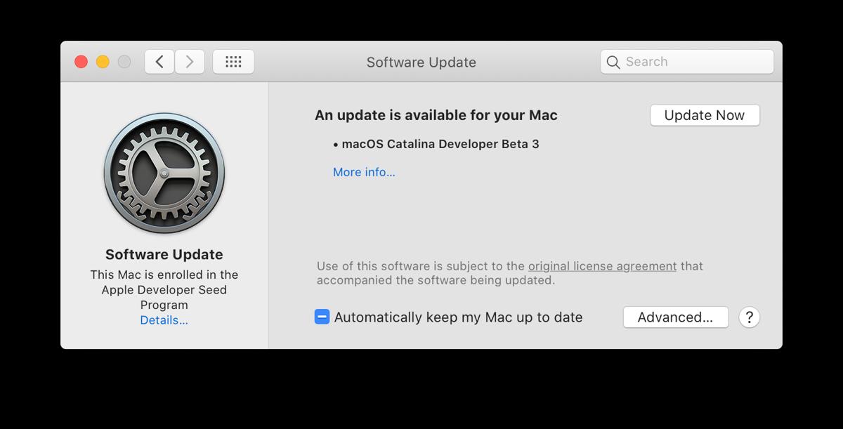 macOS Catalina Software Update