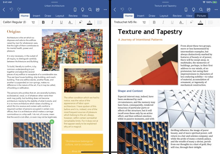 Microsoft Word on iPad