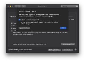 macOS Battery Conditions