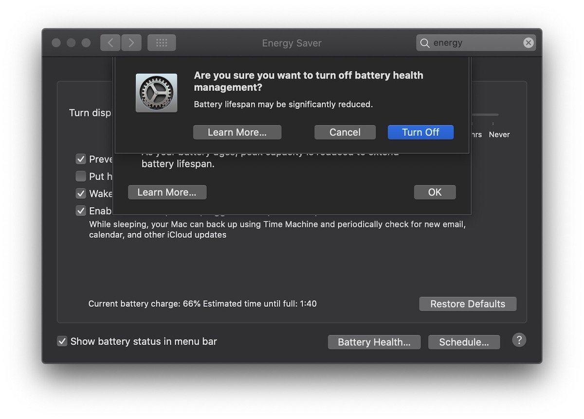 macOS Battery Health Management