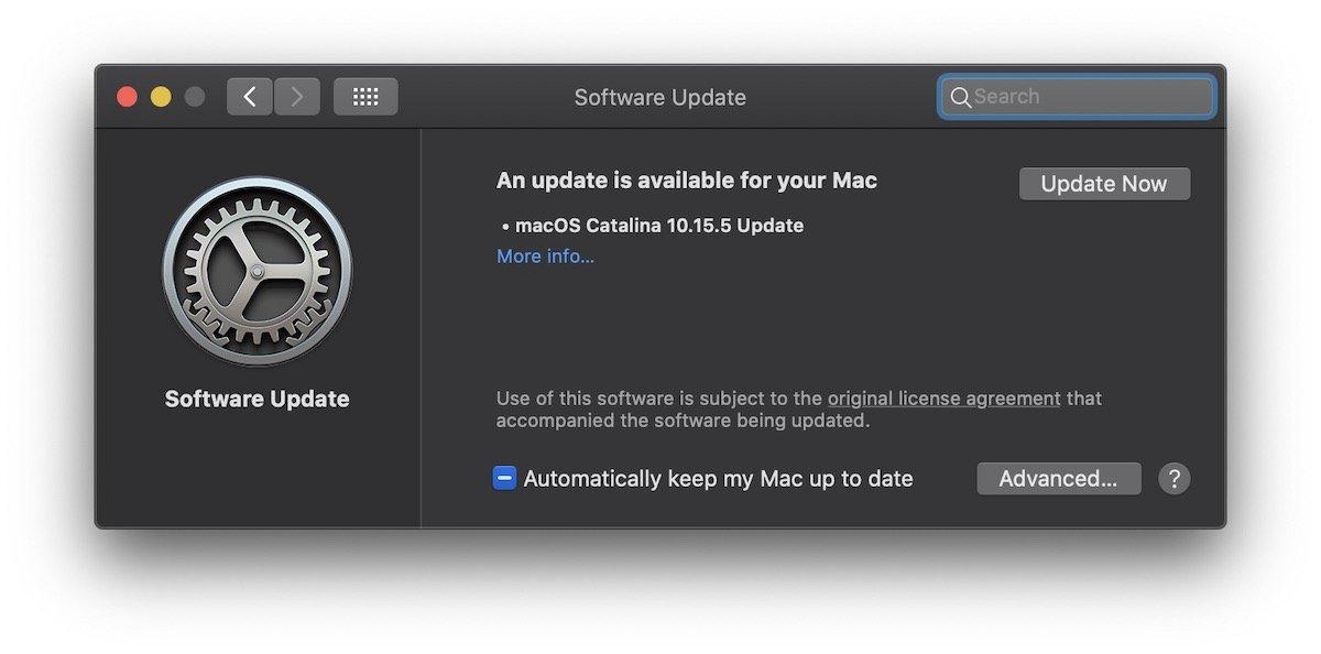 macOS Catalina 10.15.5 Update Mac