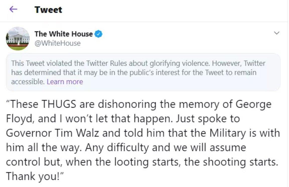 Twitter trump tweet