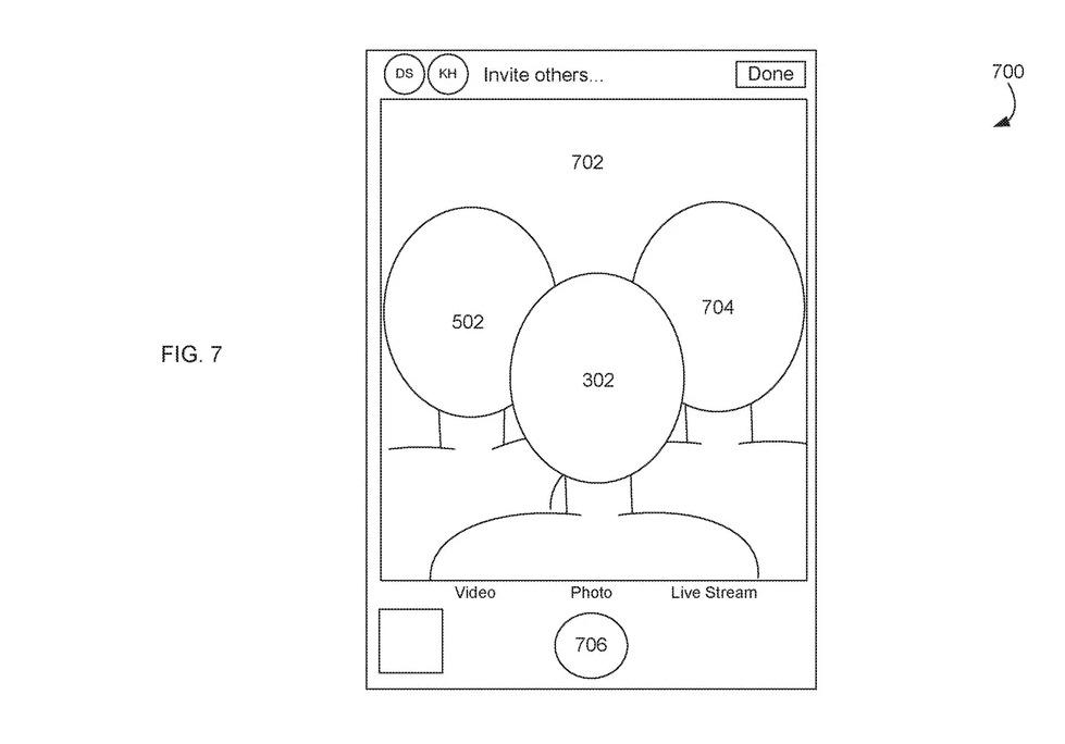 Apple patent group selfies