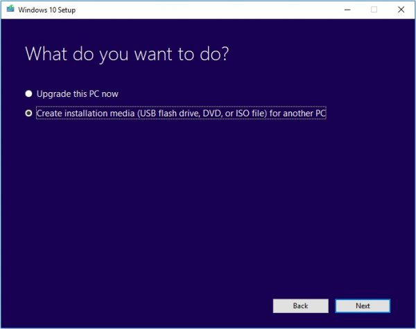 Windows Media Creation Tool 11