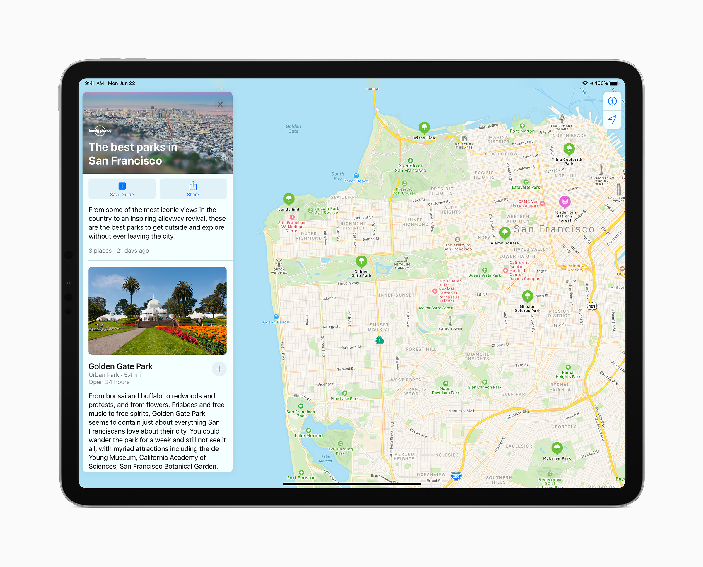 iPadOS 14 maps update